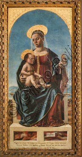 """Modena, Galleria Estense: """"Madonna col Bambino"""", di Cristoforo da Lendinara."""