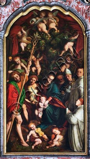 """Vercelli, chiesa di San Cristoforo, abside: Madonna in trono con Santi (""""Madonna degli Aranci""""), Gaudenzio Ferrari, 1529."""