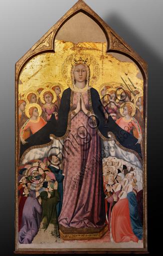 """Orvieto, Basilica Cattedrale di Santa Maria Assunta (o Duomo), interno, la Cappella del Corporale: """"la Madonna dei Raccomandati"""", di Lippo Memmi, 1320."""