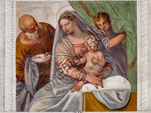 """Maser, Villa Barbaro, Stanza della Lucerna: """"Madonna della Pappa"""". Affreschi di Paolo Caliari (""""Il Veronese""""), 1560 - 1561."""