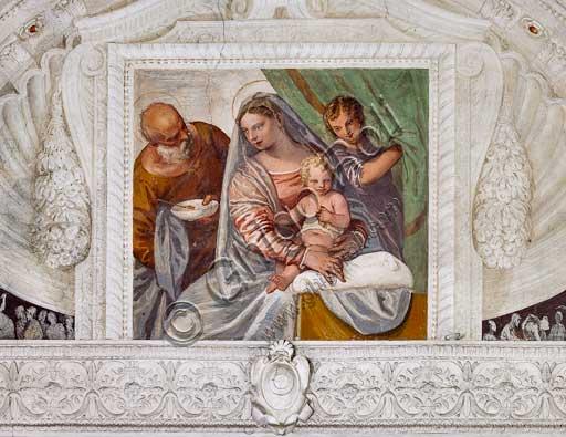 """Maser, Villa Barbaro, The Room of the Oil Lamp : """"Madonna della Pappa"""". Frescoes by Paolo Caliari, known as """"il Veronese"""", 1560 - 1561."""