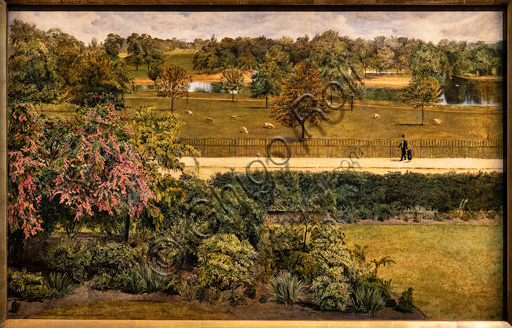 """""""May, in Regent's Park""""  (1851)  by Charles Allston Collins (1828 - 73);  oil painting."""