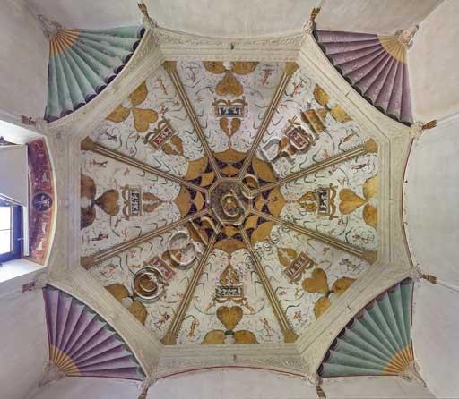 Mantova, Palazzo Te (residenza estiva dei Gonzaga), Camerino delle grottesche: la volta.
