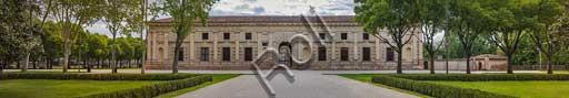 Mantova, Palazzo Te (residenza estiva dei Gonzaga): facciata occidentale.