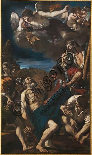 """Modena, Galleria Estense:   """"Martirio di San Pietro"""", del  Guercino (Giovanni Francesco Barbieri) (1591-1666)."""