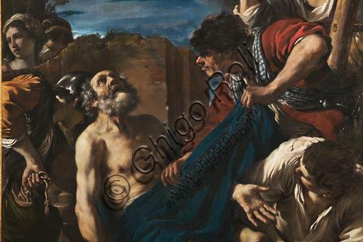 """Modena, Galleria Estense:   """"Martirio di San Pietro"""", del  Guercino (Giovanni Francesco Barbieri) (1591-1666). Particolare."""