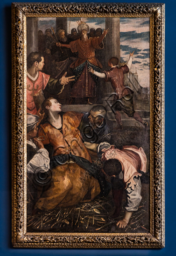 """""""Martyrdom of St. Christine"""", by Domenico Tintoretto, around 1590, oil painting on canvas."""
