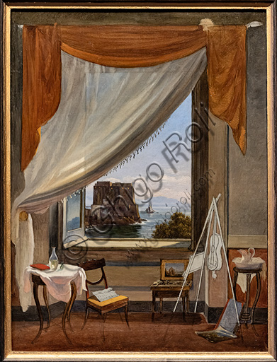"Massimo D'Azeglio, ""The painter's studio in Naples""; about 1827 , ."