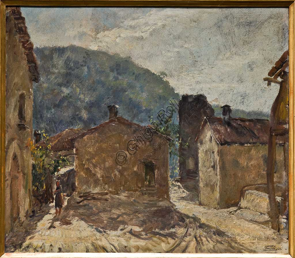 "Assicoop - Unipol Collection:  Giovanni Forghieri, ""Morning in Rosola"", oil on cardboard."