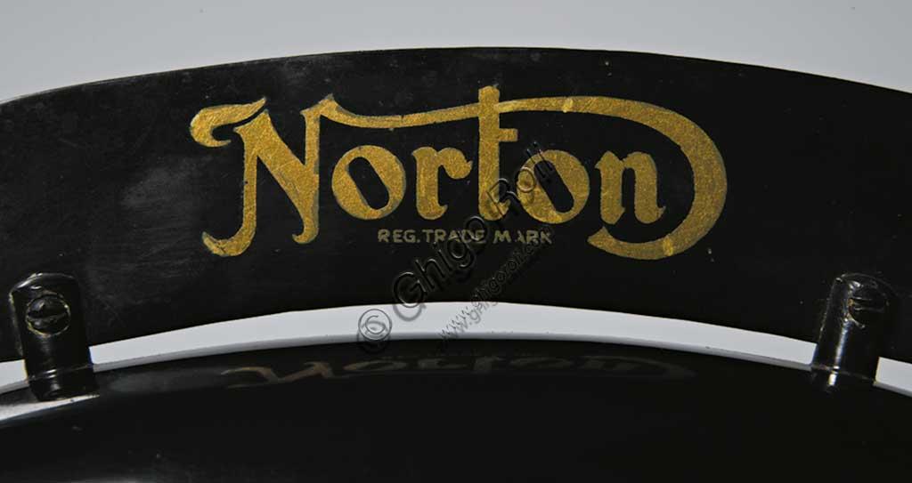 Ancient Motorbike Norton 500 CS1 - Camshaft One. Trademark.
