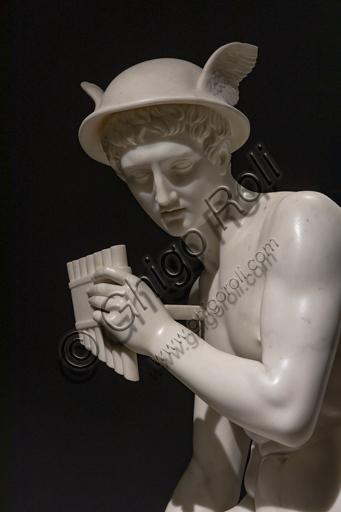 """""""Mercurio sul punto di uccidere Argo"""", 1821-29, di Bertel Thorvaldsen (1770 - 1844), marmo. Particolare."""