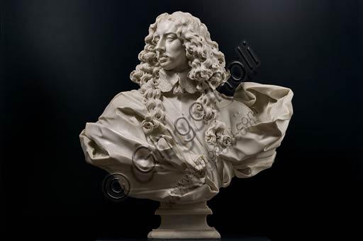 Modena, Galleria Estense: busto marmoreo di Francesco I d'Este, di Gian Lorenzo Bernini, (1598-1680).