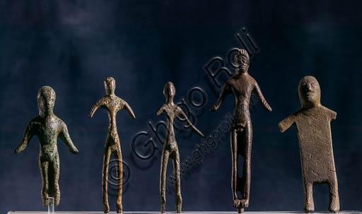 Modena, Museo Civico Archeologico Etnologico: bronzetti dalla stipe del lago di Brazzano presso Montese. VI-II sec. a.C.