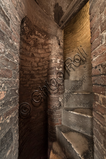 Modena, Ghirlandina Tower: the spiral staircase leading to the bell cell.
