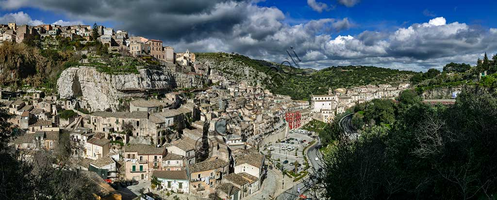 Modica: view of the town.