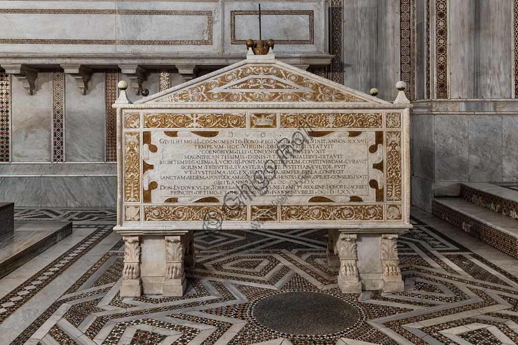 Monreale, Cattedrale di Santa Maria Nuova, (Duomo), il sarcofago rinascimentale di Guglielmo II.