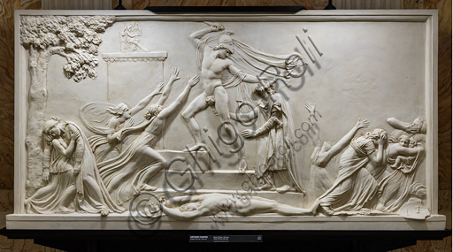 """""""Morte di Priamo"""", 1787-90, di Antonio Canova (1757 - 1822), gesso."""