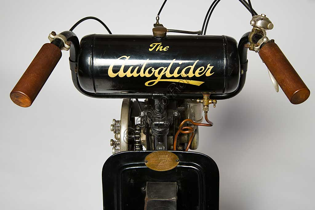 Ancient Motorbike Autoglider. Scooter.