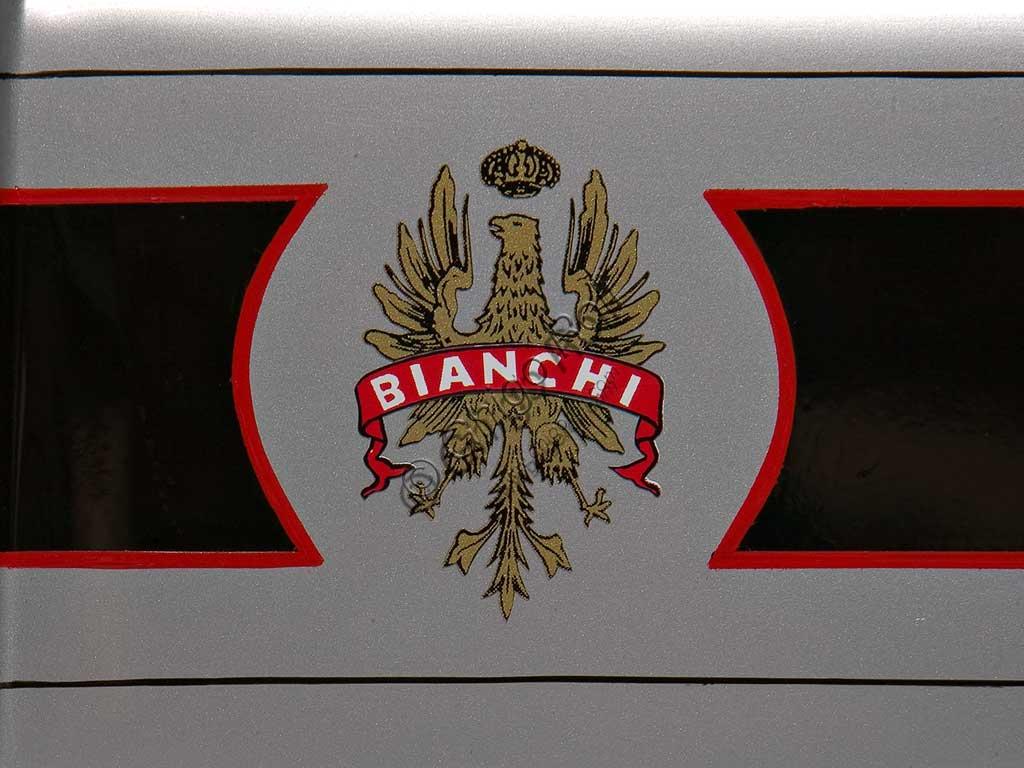 Ancient Motorbike Bianchi C 75 A. Trademark.