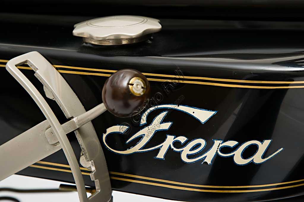 Ancient Motorbike Frera SK 350 Sport. Trademark.