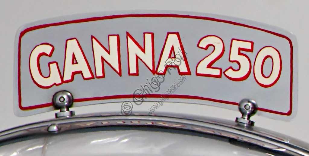 Ancient Motorbike Ganna 250 cc. Trademark.