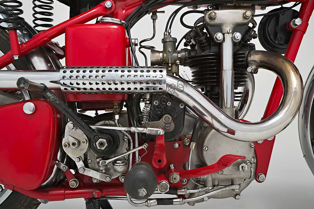 Ancient Motorbike Ganna 250 cc. Engine.