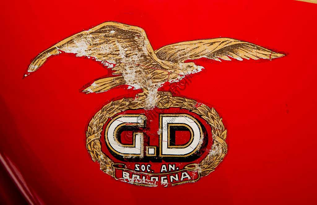 Ancient Motorbike G.D. CM Turismo 175. Trademark.