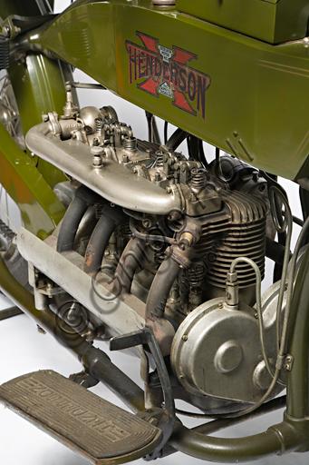 Ancient Motorbike Henderson 1100 mod G. Engine.