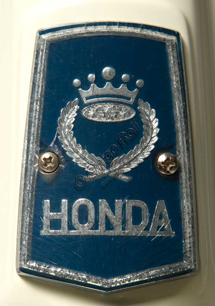 Ancient Motorbike Honda Juno M 85. Scooter. Trademark.