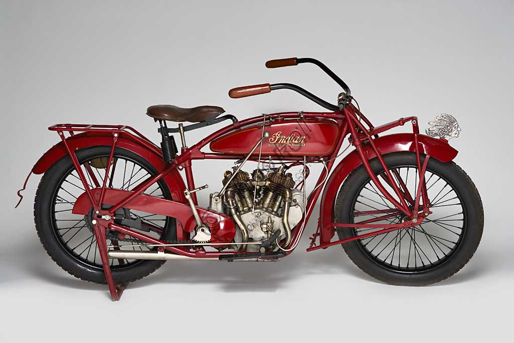 Ancient Motorbike Indian Scout.