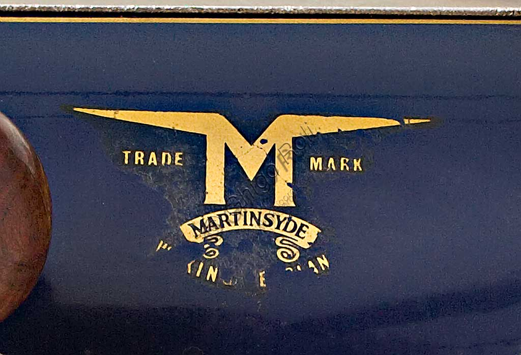 Ancient Motorbike Martinsyde 500 Sports. Trademark.