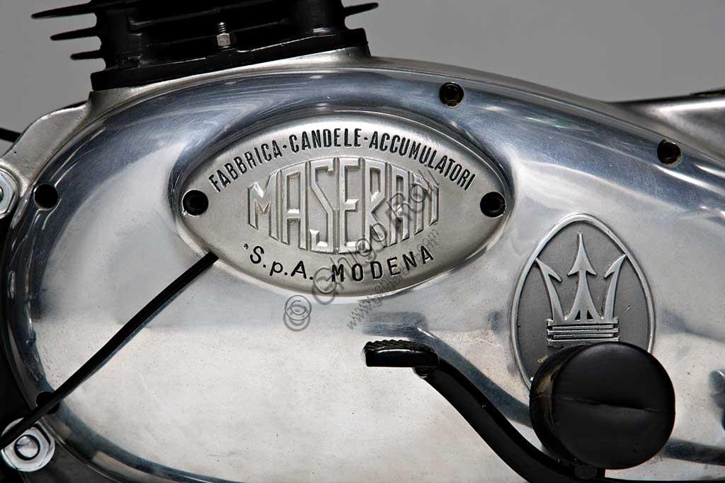 Ancient Motorbike Maserati 250 T4.