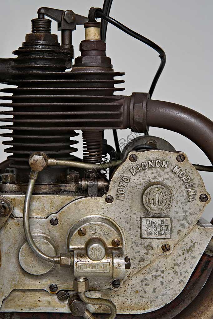 Ancient Motorbike  Mignon 125 N. Engine.