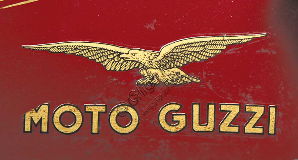 Ancient Motorbike Moto Guzzi 4 VT SS Casa. Trademark.