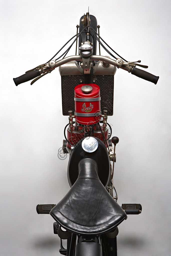 Ancient Motorbike Scott Super Squirrel.