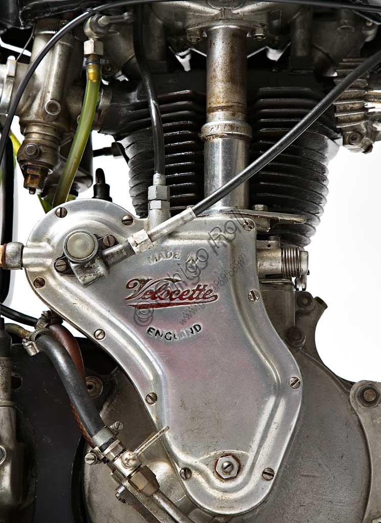 Ancient Motorbike Velocette GP MSS 500. Engine.