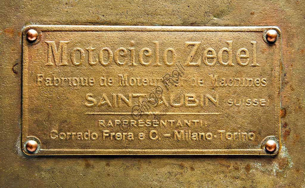 Ancient Motorbike Zedel - Frera 3 Hp. Trademark.