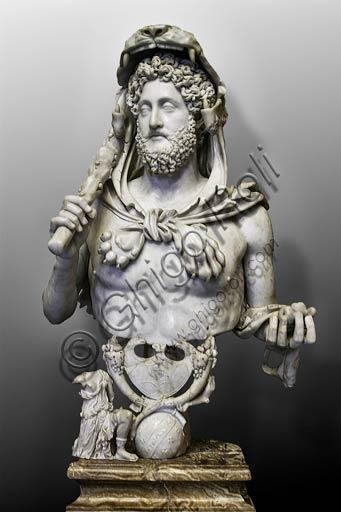 Musei Capitolini:  busto di Commodo, raffigurato nelle sembianze di Ercole, (180-193 d. C.).