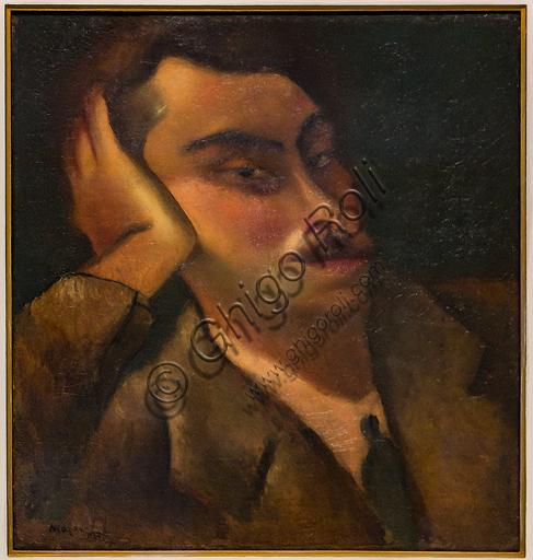 """Museo Novecento: """"Autoritratto"""", di Mario Mafai, 1928. Olio su tela."""