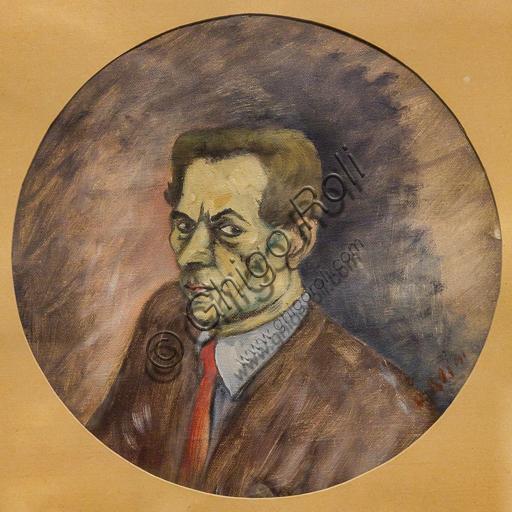 """Museo Novecento: """"Autoritratto"""", di Ottone Rosai, 1941. Olio su tela."""