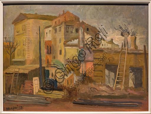 """Museo Novecento: """"Demolizioni"""", di Mario Mafai, 1937. Olio su tela."""