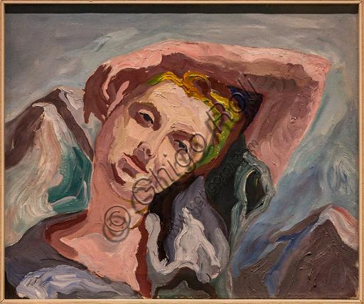 """Museo Novecento: """"Giovane donna"""", di Carlo Levi, 1934. Olio su tela."""