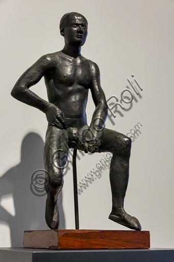 """Museo Novecento: """"Giovane pugile"""", di Marino Marini 1936. Bronzo."""