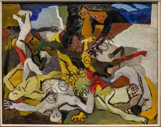 """Museo Novecento: """"Massacro"""", di Renato Guttuso, 1943. Olio su tela."""