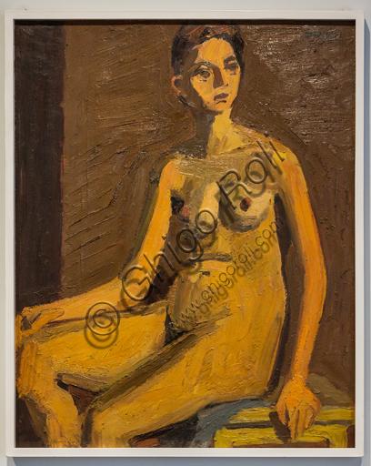 """Museo Novecento: """"Nudo"""", di Ennio Morlotti, 1941/2. Olio su tela."""