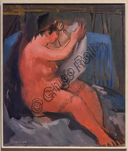 """Museo Novecento: """"Nudo"""", di Marino Marini, 1937-8. Olio su tela."""