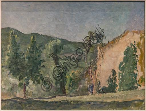"""Museo Novecento: """"Paesaggio"""", di Osvaldo Licini, 1928. Olio su tela."""
