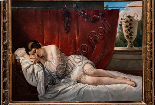 "Natale Schiavoni: ""The Sleep of Innocence"", oil painting, 1841."