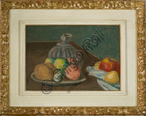 "Mauro Reggiani (1897 - 1980): ""Natura morta 1932"" (Oil painting on canvas, 122 x 90 cm)."