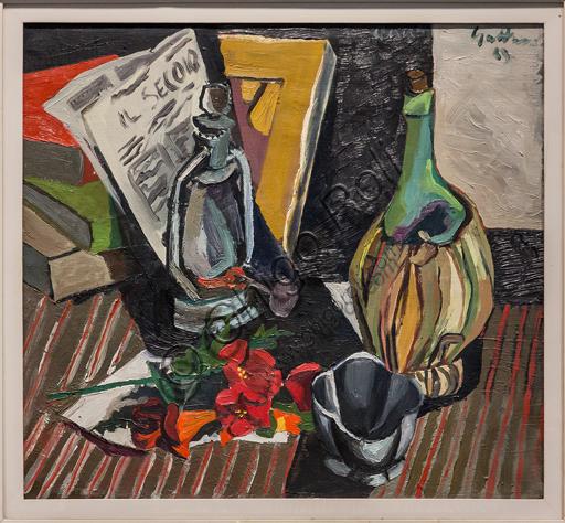 """Museo Novecento: """"Natura morta con giornale"""", di Renato Guttuso, 1943. Olio su tela."""